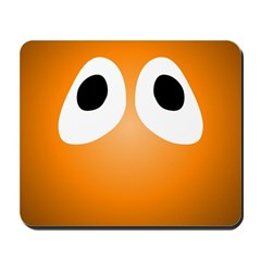 Orange Blob Eyes Mousepad