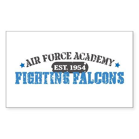 Air Force Falcons Rectangle Sticker 10 pk)