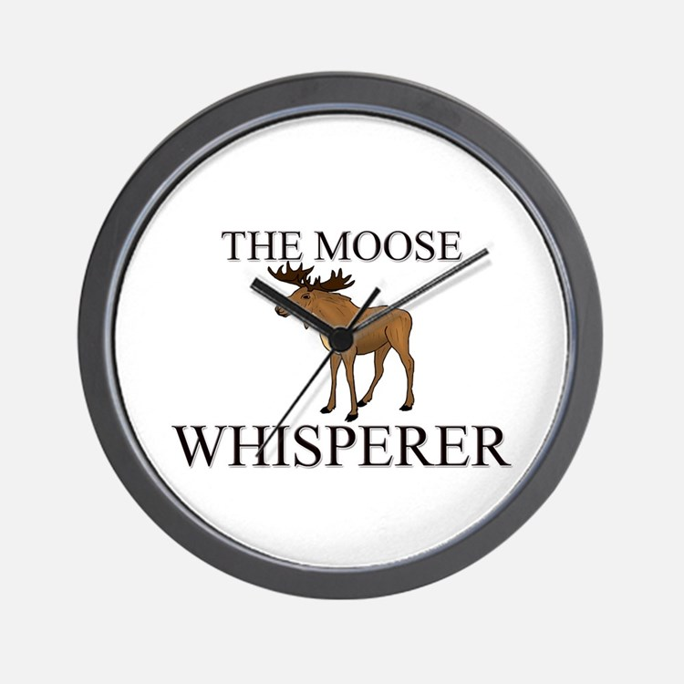 The Moose Whisperer Wall Clock