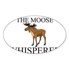 The Moose Whisperer Oval Decal