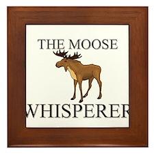 The Moose Whisperer Framed Tile