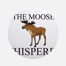 The Moose Whisperer Ornament (Round)