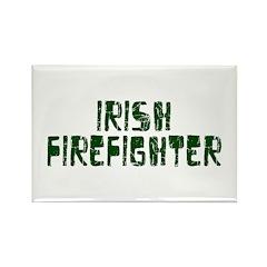 Irish Firefighter Rectangle Magnet