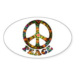 Painted Peace Symbol Decal