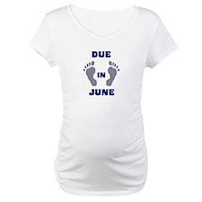 Due In June (blue feet/top) Shirt