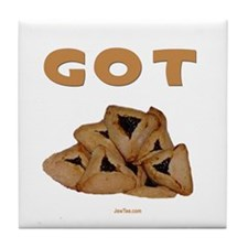 Got Hamentashen Purim Tile Coaster