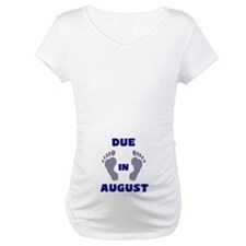 Due In August (blue feet/belly) Shirt