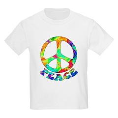 Rainbow Pool Peace Symbol T-Shirt