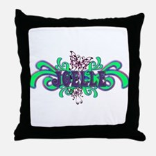 Joelle's Butterfly Name Throw Pillow