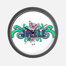 Joelle's Butterfly Name Wall Clock
