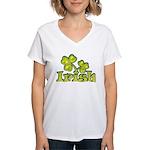 Irish Shamrocks Women's V-Neck T-Shirt