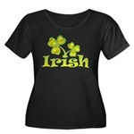 Irish Shamrocks Women's Plus Size Scoop Neck Dark