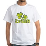 Irish Shamrocks White T-Shirt