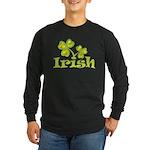 Irish Shamrocks Long Sleeve Dark T-Shirt