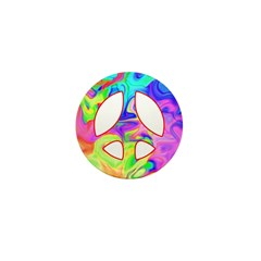 Groovy Peace Symbol Mini Button (100 pack)