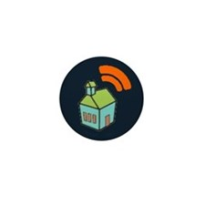 Cute Schoolhouse Mini Button (10 pack)