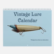 Antique Fishing Lures Wall Calendar