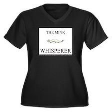 The Mink Whisperer Women's Plus Size V-Neck Dark T