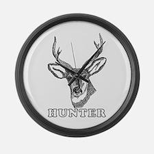 Deer Hunter Large Wall Clock