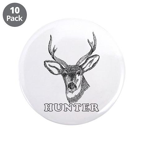 """Deer Hunter 3.5"""" Button (10 pack)"""