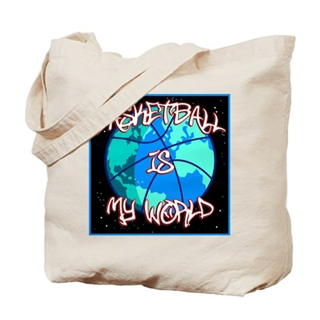 Basketball is My World Tote Bag