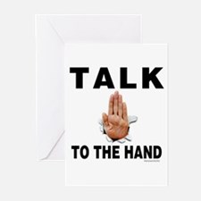 Talk to the Hand Greeting Cards (Pk of 20)