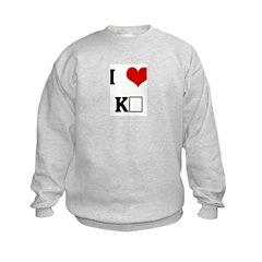 I Love KΣ Sweatshirt