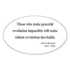 John F. Kennedy 16 Oval Decal