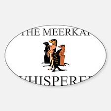 The Meerkat Whisperer Oval Decal