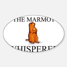 The Marmot Whisperer Oval Decal