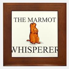 The Marmot Whisperer Framed Tile