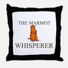 The Marmot Whisperer Throw Pillow