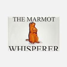 The Marmot Whisperer Rectangle Magnet