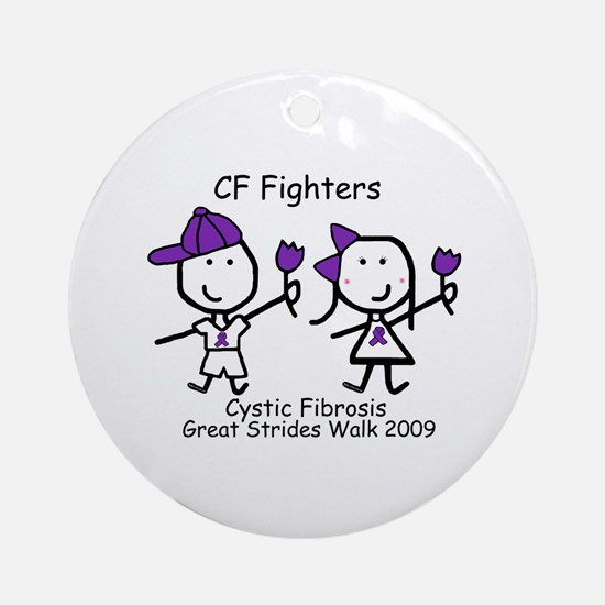 Cystic Fibrosis - CF Fighters Ornament (Round)
