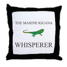 The Marine Iguana Whisperer Throw Pillow