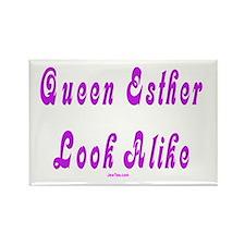 Queen Esther Look Alike Purim Rectangle Magnet
