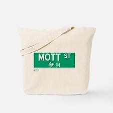 Mott Street in NY Tote Bag