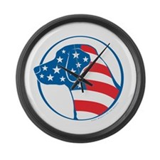 Lab Flag (Star Face) Large Wall Clock