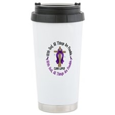 With God Cross LUPUS Stainless Steel Travel Mug