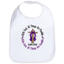 With God Cross LUPUS Bib
