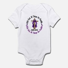 With God Cross LUPUS Infant Bodysuit