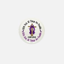 With God Cross LUPUS Mini Button (10 pack)