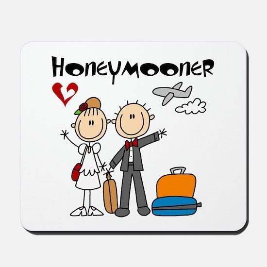 Stick Figure Honeymooner Mousepad