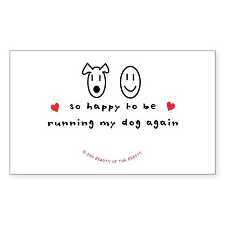 So Happy Rectangle Sticker