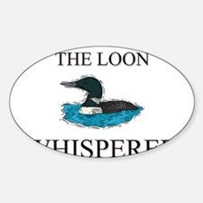 The Loon Whisperer Oval Decal
