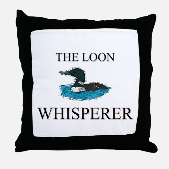 The Loon Whisperer Throw Pillow