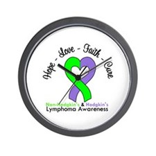 Lymphoma LimeViolet Wall Clock