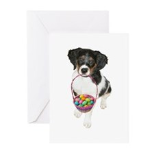 Puppy Easter Basket Greeting Cards (Pk of 20)