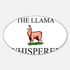 The Llama Whisperer Oval Decal