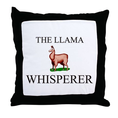 The Llama Whisperer Throw Pillow